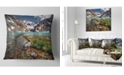 """Design Art Designart Crystal Clear Creek In Mountains Landscape Printed Throw Pillow - 16"""" X 16"""""""