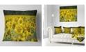 """Design Art Designart Bright Yellow Sunflowers Field Floral Throw Pillow - 16"""" X 16"""""""