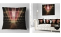 """Design Art Designart Pink On Black Laser Protective Grids Abstract Throw Pillow - 16"""" X 16"""""""