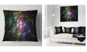"""Design Art Designart Myriad Of Colored Space Circles Abstract Throw Pillow - 18"""" X 18"""""""