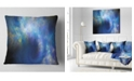 "Design Art Designart Perfect Whirlwind Starry Sky Abstract Throw Pillow - 18"" X 18"""