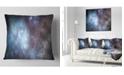 """Design Art Designart Blue Grey Starry Fractal Sky Abstract Throw Pillow - 16"""" X 16"""""""