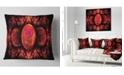 "Design Art Designart Red Exotic Fractal Pattern Abstract Throw Pillow - 16"" X 16"""