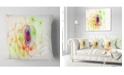 "Design Art Designart Spherical Colorful Fractal Design Abstract Throw Pillow - 18"" X 18"""