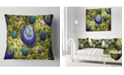 "Design Art Designart Yellow Fractal Exotic Planet Abstract Throw Pillow - 18"" X 18"""
