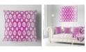 "Design Art Designart Pink Unusual Metal Grill Abstract Throw Pillow - 16"" X 16"""