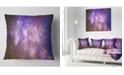 """Design Art Designart Blur Fractal Sky With Stars Abstract Throw Pillow - 16"""" X 16"""""""