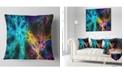 "Design Art Designart Glowing Abstract Fireworks Abstract Throw Pillow - 18"" X 18"""