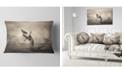 "Design Art Designart Crow Perching On Tree Animal Throw Pillow - 12"" X 20"""