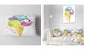 "Design Art Designart Cute Colorful Puppy Dog Animal Throw Pillow - 12"" X 20"""