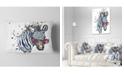 "Design Art Designart Funny Zebra Watercolor Animal Throw Pillow - 12"" X 20"""