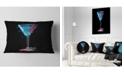 "Design Art Designart Cocktail Margarita With Berries Modern Throw Pillow - 12"" X 20"""