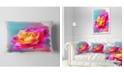 "Design Art Designart Handmade Purple Rose Drawing Floral Throw Pillow - 12"" X 20"""
