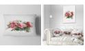 "Design Art Designart Bunch Of Pink Roses Watercolor Flower Throw Pillow - 12"" X 20"""