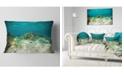 "Design Art Designart School Of Grunts With Baracuda Seashore Throw Pillow - 12"" X 20"""