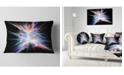 """Design Art Designart Light Blue Spectrum Of Light Abstract Throw Pillow - 12"""" X 20"""""""