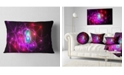 "Design Art Designart Pink Glowing Bubbles Time Abstract Throw Pillow - 12"" X 20"""