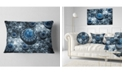 "Design Art Designart Blue Fractal Exotic Planet Abstract Throw Pillow - 12"" X 20"""