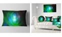 "Design Art Designart Merge Colored Spheres. Abstract Throw Pillow - 12"" X 20"""