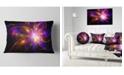"""Design Art Designart Purple Fractal Star Pattern Abstract Throw Pillow - 12"""" X 20"""""""