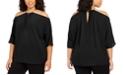 Michael Kors Plus Size Chain-Neck Cold-Shoulder Top