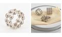 Saro Lifestyle Beaded Ball Napkin Ring, Set of 4