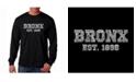 LA Pop Art Men's Word Art Long Sleeve T-Shirt- Popular Bronx, NY Neighborhoods