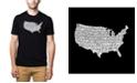 LA Pop Art Men's Premium Word Art T-Shirt - The Star Spangled Banner