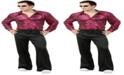 BuySeasons Buy Seasons Men's Disco Shirt - Liquid and Costume