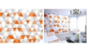 ohpopsi Bright Orange Geometric Wall Mural