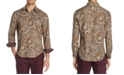Tallia Men's Slim-Fit Performance Stretch Paisley Long Sleeve Shirt