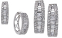 Macy's Diamond Baguette Hoop Earrings (1-1/4 ct. t.w.) in 14k White Gold