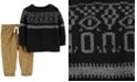 Carter's Baby Boys 2-Pc. Knit Sweater & Corduroy Pants Set