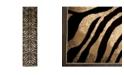 "Global Rug Designs CLOSEOUT! Global Rug Design Brighton BRI06 Black 2'2"" x 16' Runner Area Rug"