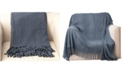 """Battilo Home Cable Knit Woven Luxury Tasseled Ends Throw50"""" X 60"""""""