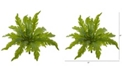 "Nearly Natural 14"" Fern Artificial Plant, Set of 6"