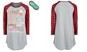 Max & Olivia Big Girls Buffalo-Check Holiday Nightgown & Eye Shade