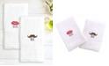 Linum Home 100% Turkish Cotton Lips and Mustache 2-Pc. Hand Towel Set