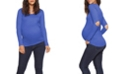 Stowaway Collection Maternity Stowaway Collection Elbow Slit Maternity Top