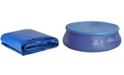 Northlight 12.5' Durable Round Prompt Set Swimming Pool Cover with Rope Ties
