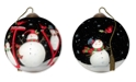 Ne'Qwa The Season Of Joy hand-painted blown glass Christmas ornament