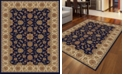 "KM Home CLOSEOUT! 1592/1080/NAVY Pesaro Blue 3'3"" x 4'11"" Area Rug"