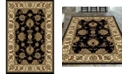 "KM Home CLOSEOUT! 1330/1222/BLACK Navelli Black 7'9"" x 9'6"" Area Rug"