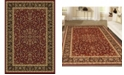 """KM Home CLOSEOUT! 1318/1530/BURGUNDY Navelli Red 3'3"""" x 5'4"""" Area Rug"""