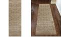 """KM Home CLOSEOUT! 3564/0013/BEIGE Cantu Beige 2'2"""" x 7'7"""" Runner Rug"""
