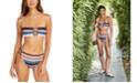 Michael Kors Bandeau Bikini Top & High-Waist Bottoms