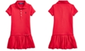 Polo Ralph Lauren Toddler Girls Pleated Stretch Mesh Polo Dress