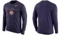 Nike Men's LSU Tigers Velocity Travel Long Sleeve T-Shirt