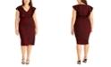RACHEL Rachel Roy Plus Size Animal Print Ruffle Dress