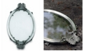 Vagabond House Pewter Acorn and Oak Leaf Oval Glass Tray